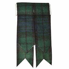 New Kilt Sock Flashes Black Watch/kilt Hose Flashes/kilt Flashes/Highland Wear