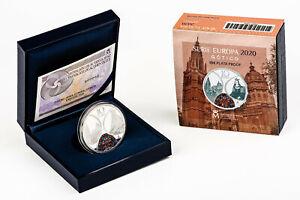 ESPAÑA 10 euro plata 2020 proof  SERIE EUROPA - EL GÓTICO - 8 REALES