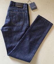 NWT $795 Ermenegildo Zegna Luxury Denim Jeans Pants Navy 32 US Italy