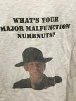 Tee Shirt Vtg Full Metal Jacket What's Your Major Malfunction Numbnuts XXXL