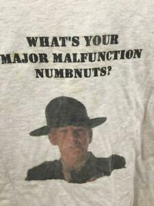 Tee Shirt Vtg Full Metal Jacket What's Your Major Malfunction Numbnuts XXXL