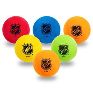 Franklin Sports Mini Foam Hockey Balls - Knee Hockey Balls for Kids - 6 Soft -