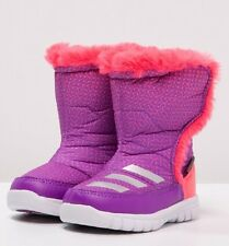 New Adidas LUMILUMI Winter Printed Warm Boots Size 8.5 K EU 26