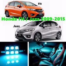 9pcs LED ICE Blue Light Interior Package Kit for Honda Fit or Jazz 2009-2015