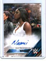 WWE Naomi 2016 Topps Then Now Bronze Authentic Autograph Card SN 30 of 50