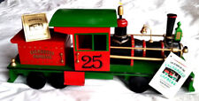 """Vintage Evergreen Express Musical Wooden Locomotive Train 18.5"""" Roman 1986 excl"""