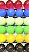 """1 INCH 66 Opaque 1"""" 25mm Solid Glass Marbles for Board Games Free Ship Priority"""
