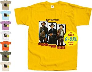 The Good The Bad and The Ugly V1 WESTERN PRINT DTG MAN T Shirt All sizes S-5XL