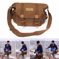 Caden Canvas Vintage Camera Messenger Shoulder Bag for DSLR SLR Canon EOS Sony