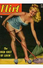 Pin Up Girl Poster 11x17 Flirt magazine cover art December Blonde