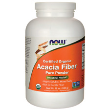 NOW Foods Certified Organic Acacia Fiber Pure Powder 12 oz Pwdr