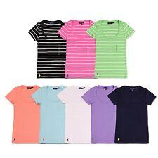New Polo Ralph Lauren Women's Cotton SCOOPNECK Short Sleeve Tee XS,S,M,L,XL
