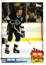 1990-91 Topps Tiffany Team Scoring Leaders #12 Wayne Gretzky