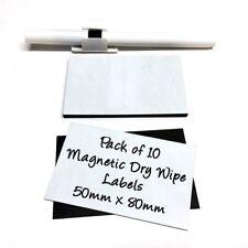 Pizarra Magnética seco limpie las etiquetas Precortada - 50 Mm x 80 mm paquete de 10