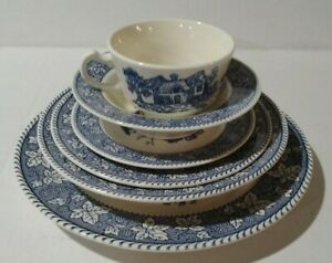 Shakespeare Country 6 Piece Set Homer Laughlin Fine China stored in China Cabnet