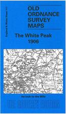 OLD ORDNANCE SURVEY MAP THE WHITE PEAK, BUXTON, BAKEWELL, LEEK, HARTINGTON 1906