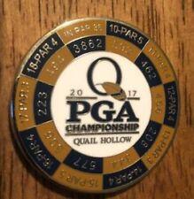 Quail Hollow 2017 Pga Championship Yardage Duo Golf Ball Marker Coin Augusta