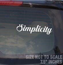 "Simplicity JDM Dope Clean Fresh Drift Race Low AWD Decal Sticker 7.5"""