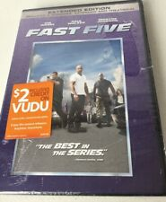 FAST FIVE DVD New Sealed Extended Edition Vin Diesel Dwayne Johnson Paul Walker