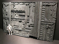 Star Wars Custom Cast Diorama Large Hanger Wall Section 3.75 - 6 In Scale Figure