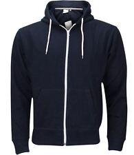 Mens Boys Hoody Sweatshirt Plain American Zip Up Hooded Fleece Jacket Zipper Top