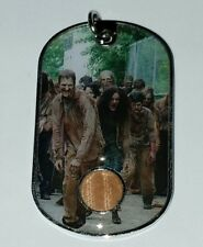 Walking Dead season 6 costume material dog tag worn by a fence walker