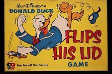 Walt Disney's Donald Duck Flips His Lid Game  1958  Complete & Unused   VF+