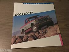 MINT CHEVROLET 1986 CHEVY S-10 PICKUP SALES BROCHURE TAHOE, SPORT NEW (BOX 293)