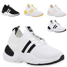 Damen Laufschuhe Fitness Sneaker Strick Sportschuhe Schnürer 833185 Trendy Neu