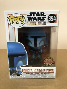 Funko Pop! Death Watch Mandalorian (Two Stripes) #354 Star Wars + Protector