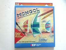 Vintage Mongol Watercolor Pencils Eberhard Faber Paint with Pencils 24 23172 New
