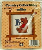 1987 Vntg NIP Traditions Counted Cross Stitch Embroidery Kit B Is For Bear 8393