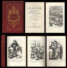 Le Gulliver de la Jeunesse 1876 SWIFT éd. Bernardin-Béchet Illustré Adrien Marie