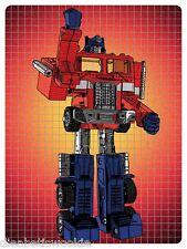 Optimus Prime Transformers Hasbro vintage Toy figure art print poster mondo