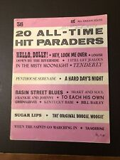 20 All Time Hit Paraders Hello Dolly No 56 Organ Solos Sheet Music 1964 Piano