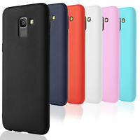 Plain TPU Case for Samsung Galaxy J6 2018 Phone Shell Silicone Ultraslim Bumper