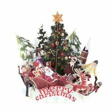 3D Pop Up Christmas Cards Origami Paper Postcards Gift Greeting Card Handmade