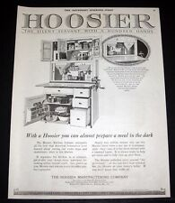 1920 OLD MAGAZINE PRINT AD, THE HOOSIER CABINET, THE SILENT SERVANT WITH HANDS!