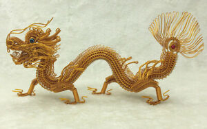Crafts Ornaments Chinese Traditional Handmade Aluminum Wire Colored Dragon Model