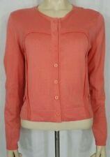 Nanette Lepore coral pink Cotton button front cardigan sweater ladies Medium
