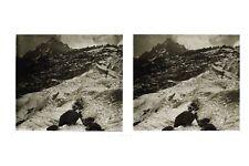 Mont-Blanc Montagnes France Photo E22 Stereo Plaque de verre ca 1927