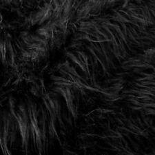 50cm schwarz ZOTTEL Kunst-Fell Decke Teddy Meterware Plüsch-Stoff Web-Pelz Tolko