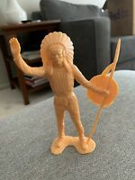 "Vintage 1964 Louis Marx & Co. 5 1/2"" Native American Indian Figure MCMLXIV"