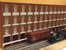 "O Scale 4-Story Trackside Warehouse Shadowbox 3-Piece Set 36"" Long Text To Order"
