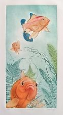 Charles Lynn Chick Bragg FISH LIPS Hand Signed Limited Edition Etching Art