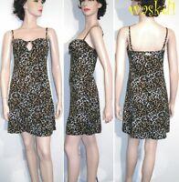 BLUMARINE BLUGIRL 42 IT-6US LEOPARD spots SEXY Key-Hole COVER-UP dress NWT Auth