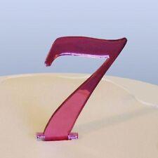 Numéro 7 Ecriture Miroir Acrylique Rose Figurien Pour Gâteau Approximativement
