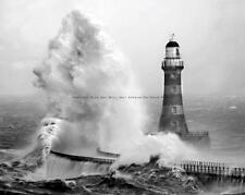 LIGHTHOUSE NAUTICAL DECOR VINTAGE PHOTO OCEAN WAVES WALL ART #20387