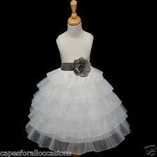 IVORY WEDDING FLOWER GIRL DRESS LIME MERCURY OASIS PERSIMMON 12-18M 2 4 5 6 8 10
