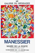 Alfred Manessier / Musée de la Poste/ Affiche / Lithographie 1981 / Abstrait